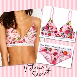 Victoria's Secret Wireless T-Shirt Bra & Panty